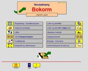 Bokorm Hovedmeny