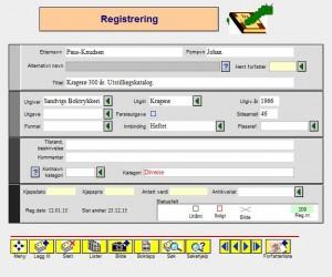 Bokorm Registrering